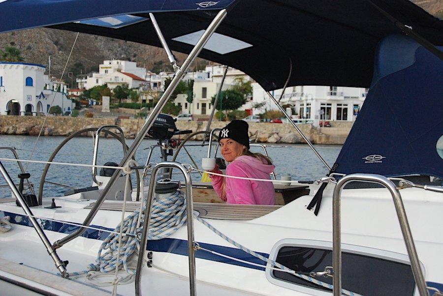 Sailing Tilos Greece