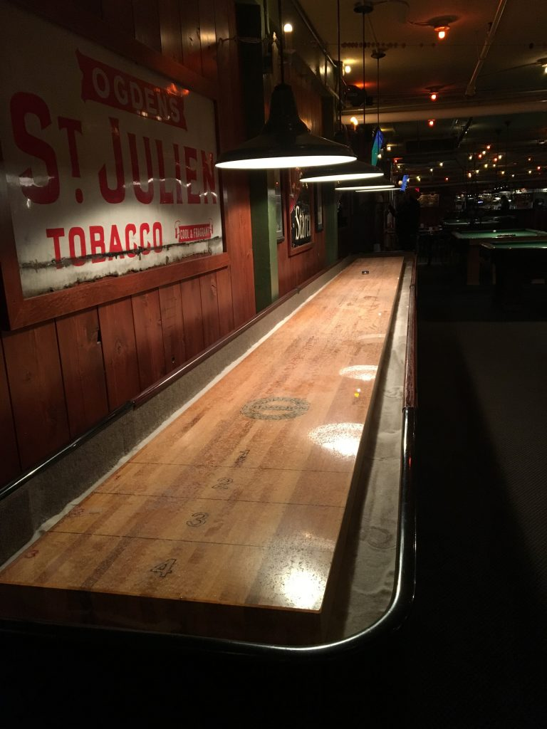 Shuffleboard at Lucky Staehly's Pool Hall