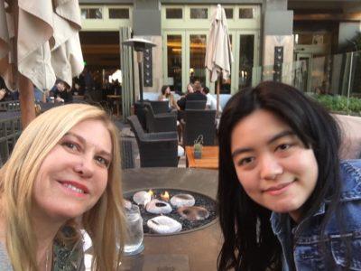 Jenny with friend in LA