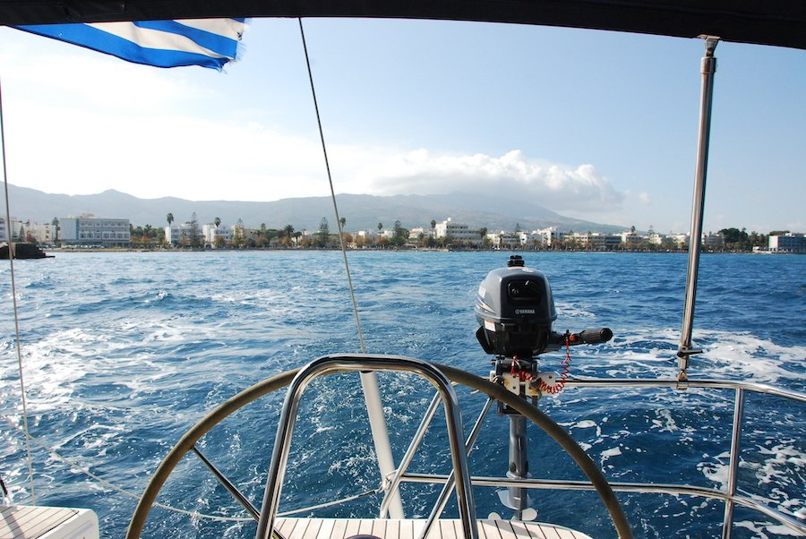 Sailing from Kos Greece