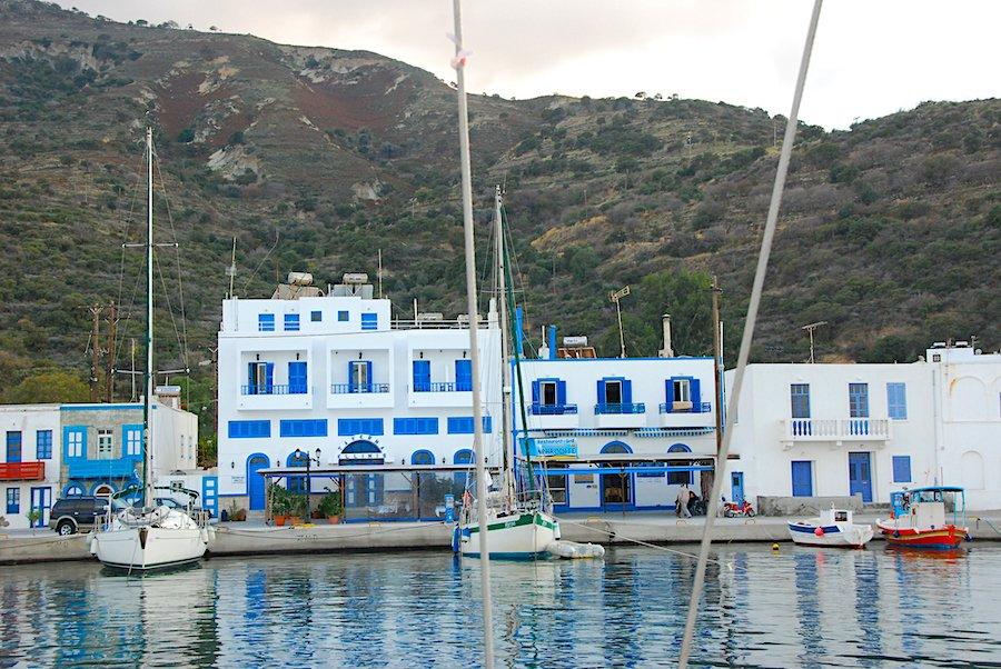Arriving in Nisyros Greece