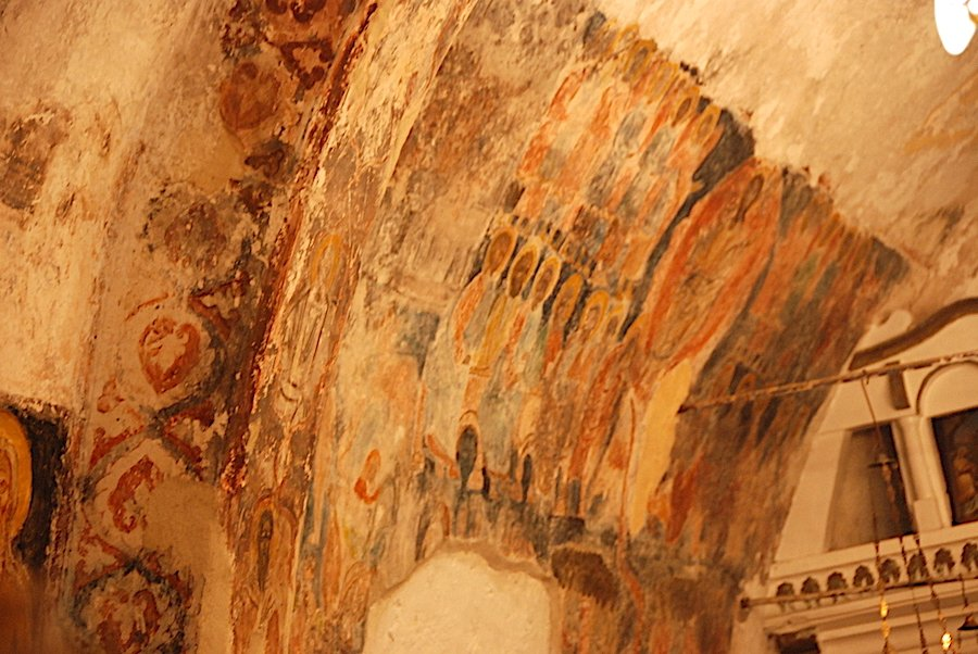 Ancient Wall Murals Recently Discovered in the Church