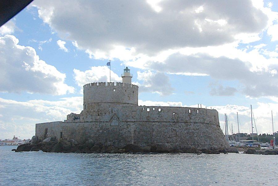Guarding the Rhodes Marina Entrance