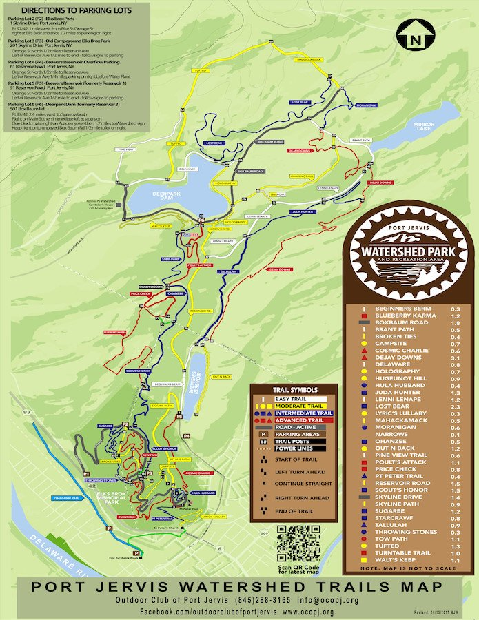 Watershed Trail Map courtesy of the Outdoor Club of Port Jervis