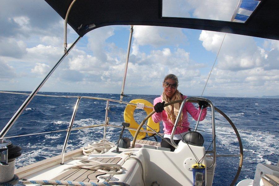 Sailing into Rhodes
