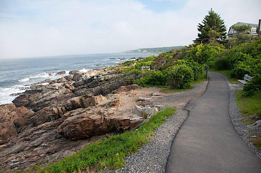Paved Footpath of Marginal Way, Ogunquit Maine