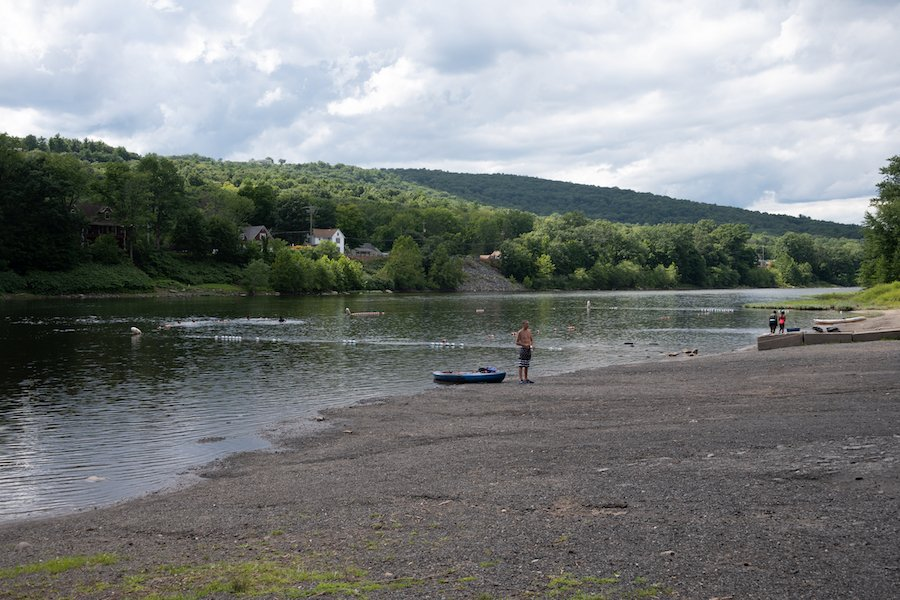 Westend Beach on the Delaware River