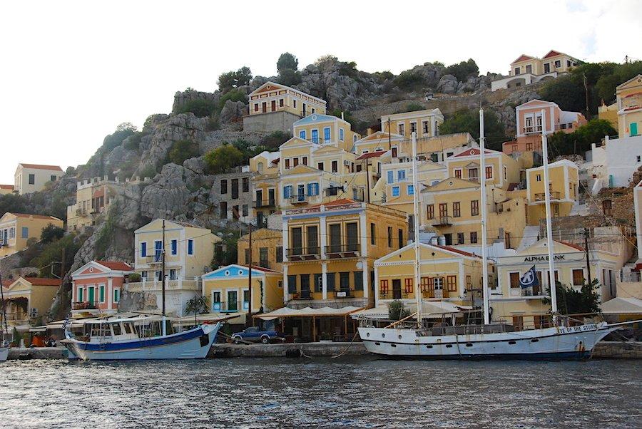 Visiting Yialo Harbor, Symi Greece