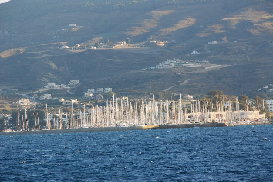 Arriving in Bodrum Turkey by Catamaran Ferry