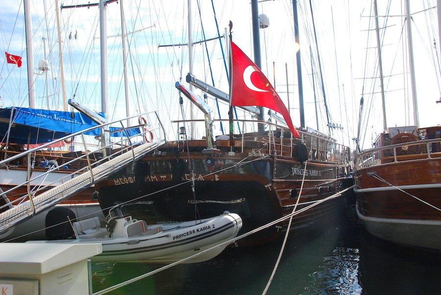 Turkish Gulets in Bodrum, Turkey