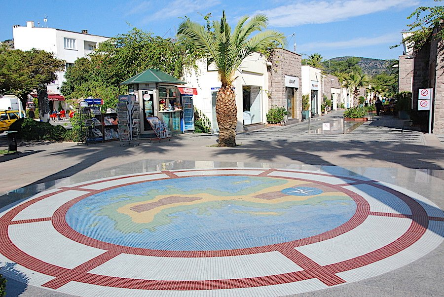 Shopping Street in Bodrum Along the Marina