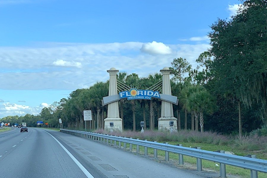 Welcome to Florida Road trip sign