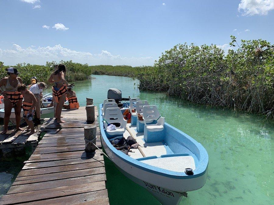 boat tour Sian Ka'an biosphere reserve
