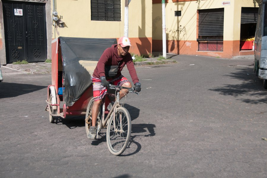 Foot powered TukTuk Mexico