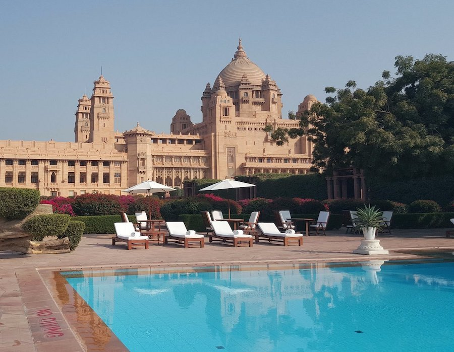 30 Best Swimming Pools to Splash into Travel - Taj Umaid Bhawan Palace